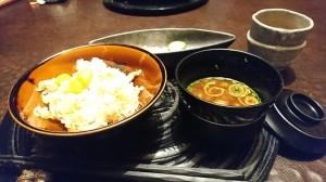 秋鮭と銀杏のご飯