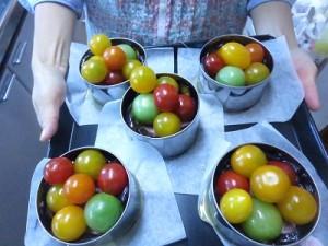 ①ナスとトマトのオーベルジーヌ