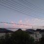 東の空が綺麗です(⋈◍>◡<◍)。✧♡
